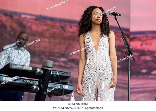 Barclaycard presents British Summer Time Hyde Park - Day 10 - Performances Featuring: Corinne Bailey Rae Where: London, United Kingdom When: 10 Jul 2016 Credit:...