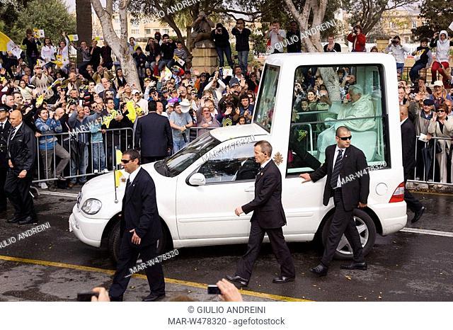 pope benedictus XVI in malta, april 2010