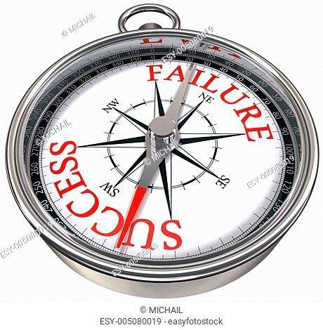success versus failure concept compass