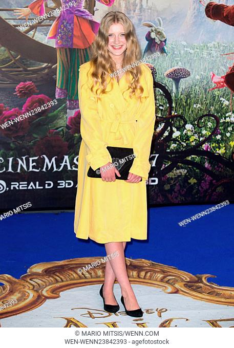 The European Premiere of 'Alice Through The Looking Glass' held at the Odeon Leicester Square - Arrivals Featuring: Poppy Lee Friar Where: London