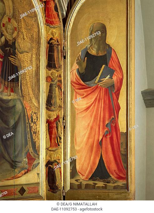 St John the Evangelist, detail from the right door of the Tabernacle of the Linaioli (Linemakers), 1432-1433, by Giovanni da Fiesole