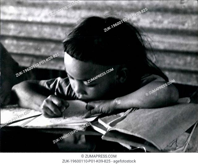 Mar. 02, 2012 - Drooping? Bejewelled Earlobes - And An Ex-Pupil At Ohio State Univ. That's Sarawak's Jungle School: A small girl sits demurely at her desk