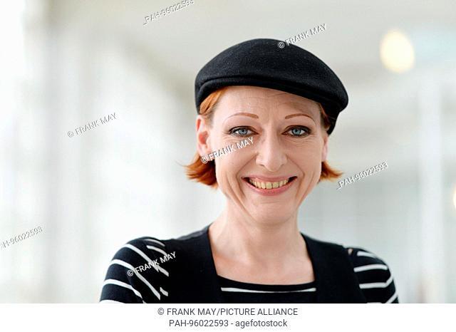 Katharina Greve at the 69th Frankfurt Book Fair in Frankfurt/Main, Germany, October 2017. | usage worldwide. - Frankfurt am Main/Hessen/Germany