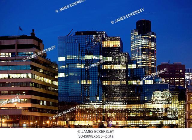 Office buildings in City of London, UK