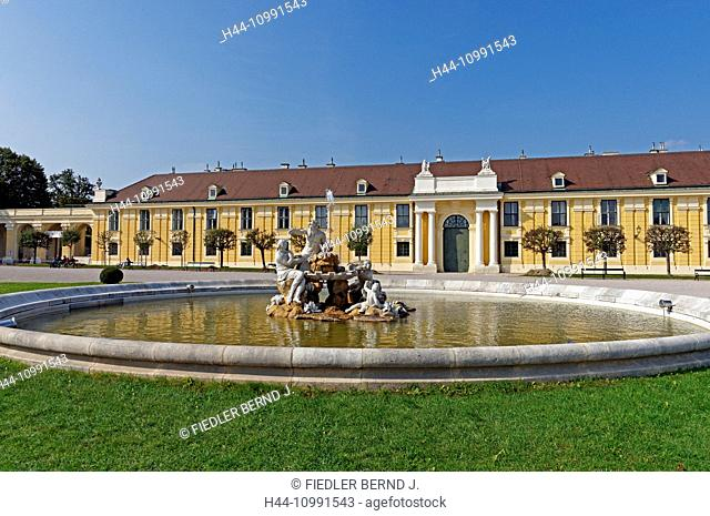 Castle, Schönbrunn, forecourt, fountain