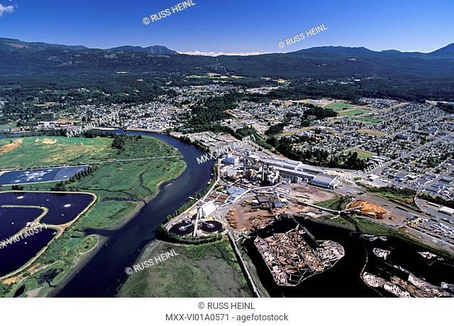 Aerial view of Port Alberni, B.C. Vancouver Island