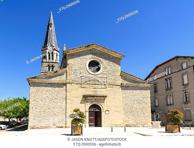 The Church of Notre Dame de Tain, Tain-l'Hermitage, Valence, Drôme, Auvergne-Rhône-Alpes, France