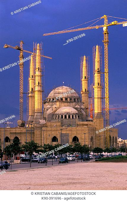 Constructing side of the new Mahammed Al-Amine Mosque, Beirut, Lebanon