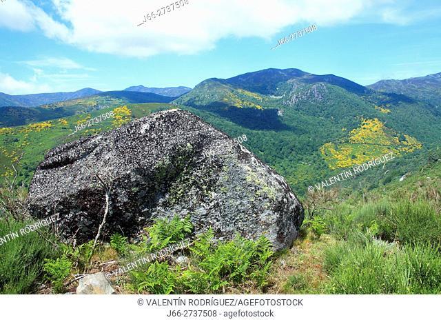 Landscape from Campo del Agua, valley Burbia. León