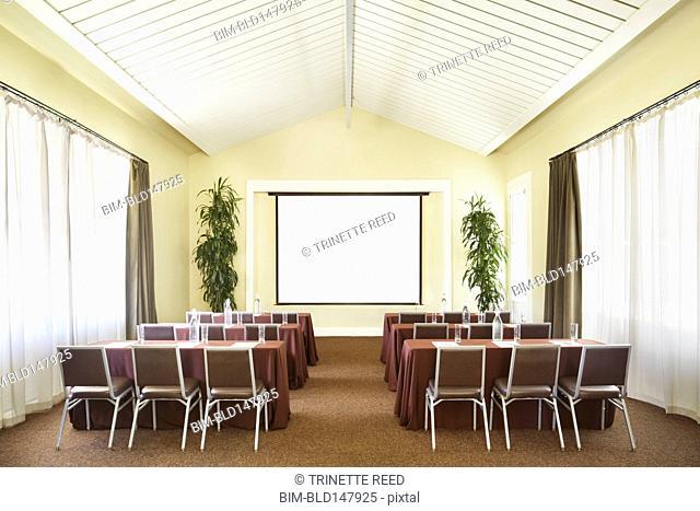 Room prepared for seminar