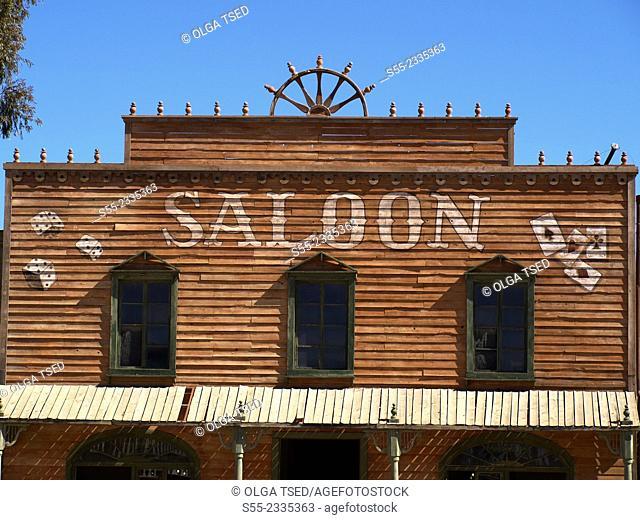 Saloon. Western village. Almeria, Andalucia, Spain