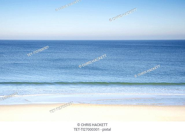 Tranquil seascape with Nauset Beach at Cape Cod