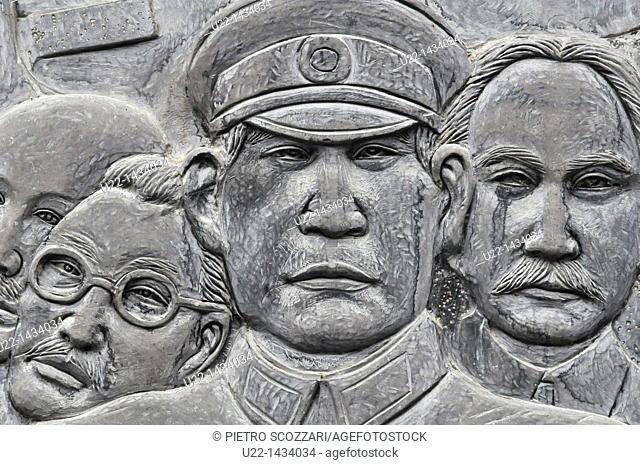 Yangshou (China): bas-relief inspired to the local history