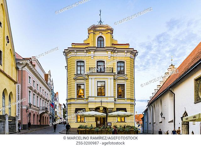 Maiasmokk is an old café in the capital city of Tallinn, located in the ground floor of the yellow building in the centre