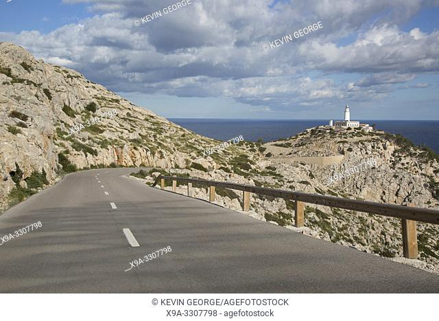 Lighthouse and Road at Formentor; Majorca; Spain