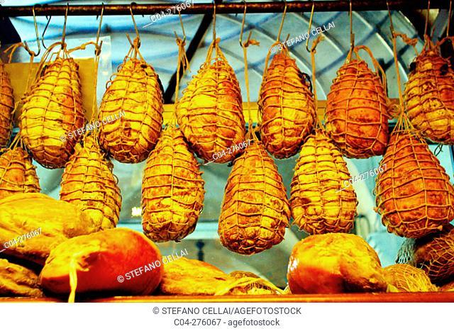 'Culatello', typical sausages. Reggio Emilia. Emilia Romagna, Italy