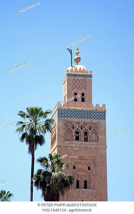 La Koutoubia Mosque in Marrakech  Morocco