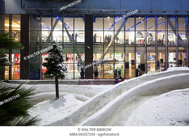 UAE, Dubai, Al Barsha, Mall of the Emirates, Ski Dubai, indoor ski area, view towards the mall