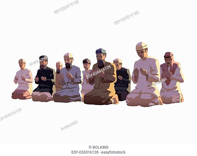 This is an illustration of ramadan prayer