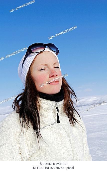Woman relaxing in sun