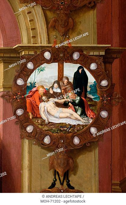 Die St. Jakobuskirche Brügge. Gemälde Kreuzabnahme Christi