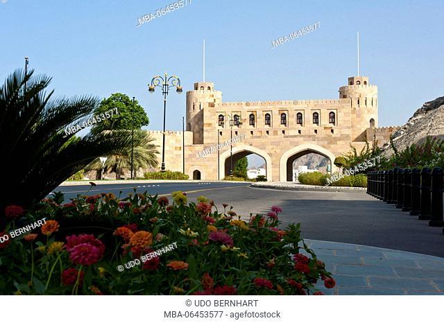 Arabia, Arabian peninsula, Sultanate of Oman, Muscat, Old Muscat, Bab al-Kabir, main gate of the city fortification