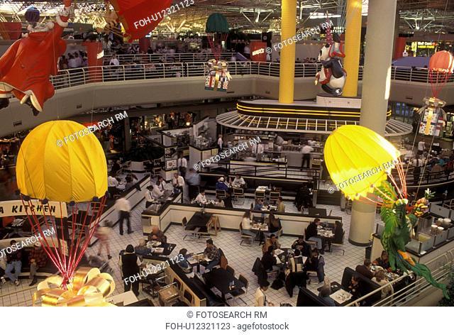 Atlanta, GA, Georgia, Lenox Square Mall, interior, shopping center, Food Court, fast food, restaurants
