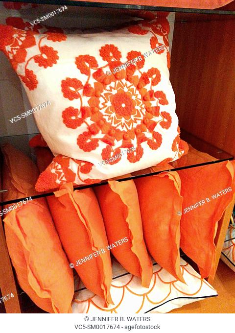 Pillows for sale in a retail store