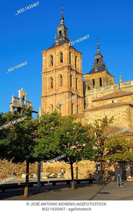 Cathedral, Astorga, Via de la Plata (Silver Route), Leon province, Castilla-Leon, Way of St James, Spain, Europe
