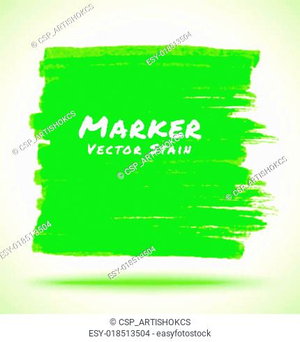 Green Marker Stain