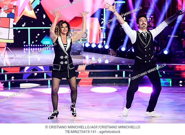 Marzia Roncacci during the performance at the tv show Ballando con le stelle (Dancing with the stars) Rome, ITALY-27-04-2019
