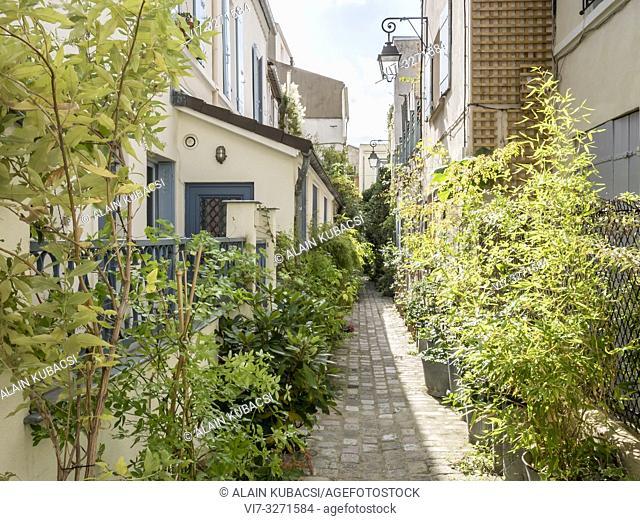 Impasse de Bergame, rue des Vignoles, Paris 75020