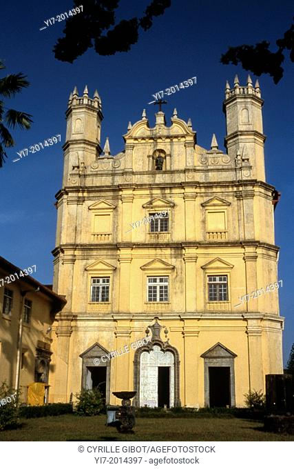 Cathedral built by the Portuguese, Old Goa, Goa state, India, Asia
