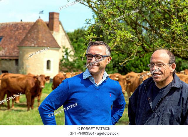 LAURENT CLEMENT, MICHELIN-STARRED CHEF AT THE COURS GABRIEL, AND JEAN-EDOUARD JEAUNEAU, LIM-ANGUS AND LIMOUSINE CATTLE AND COW FARM, PRODUCE OF THE LAND