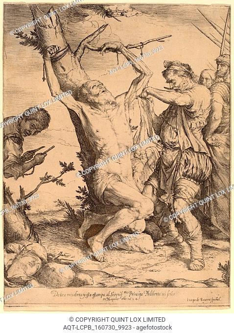 Jusepe de Ribera, The Martyrdom of Saint Bartholomew, Spanish, 1591 - 1652, 1624, etching and engraving