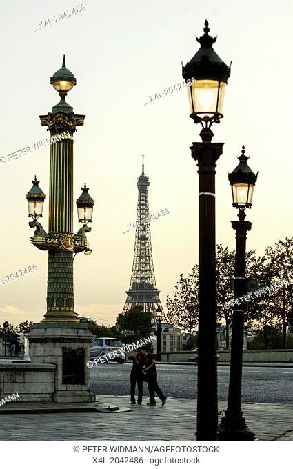 Paris, Place de la Concorde, Eiffel Tower, Tour Eiffel, France