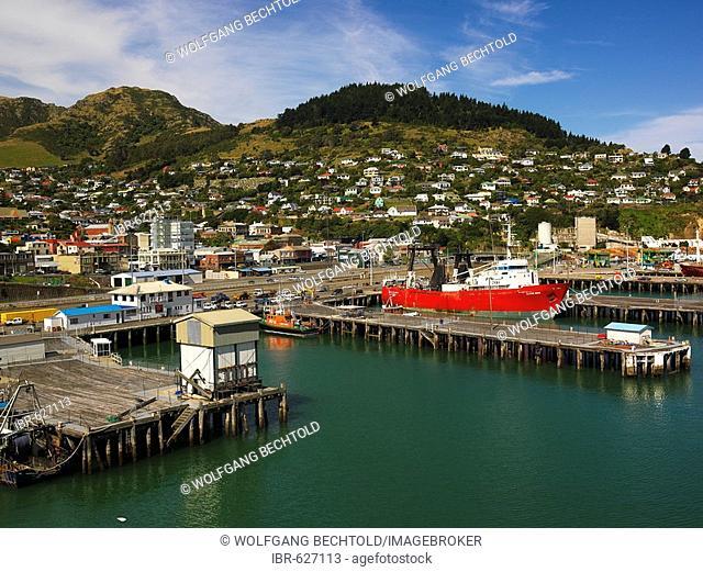 Capt. Khlebnikov, icebreaker at Lyttelton Harbour near Christchurch, South Island, New Zealand, Oceania