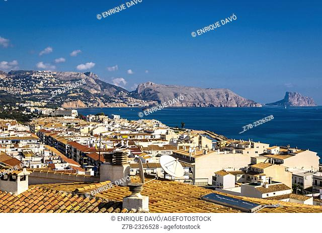A view of Altea town, Alicante province, Spain