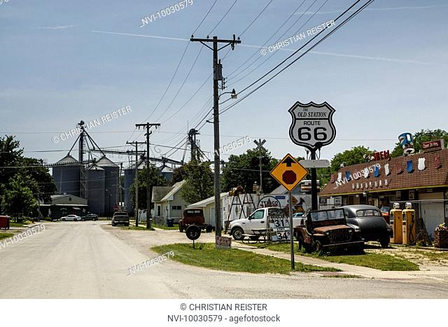 The Old Station, Williamsville, Historic Route 66, Illinois, USA