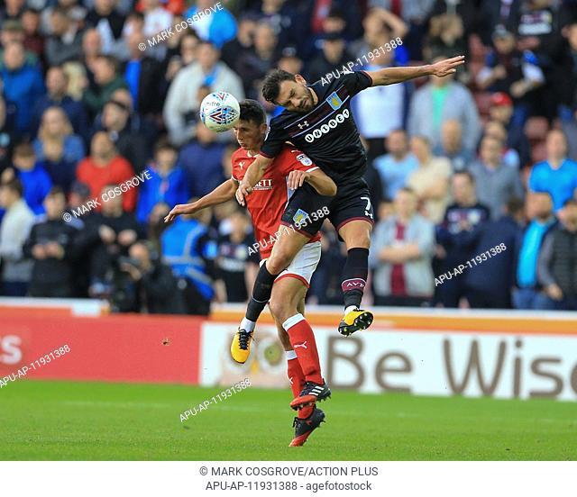 2017 EFL Championship Barnsley v Aston Villa Sep 16th. 16th September 2017, Oakwell, Barnsley, England; EFL Championship football
