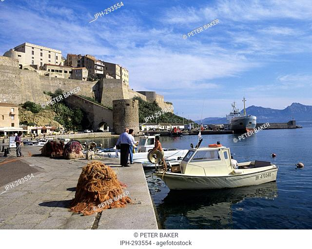 Harbourside view of the ancient Citadel at Calvi