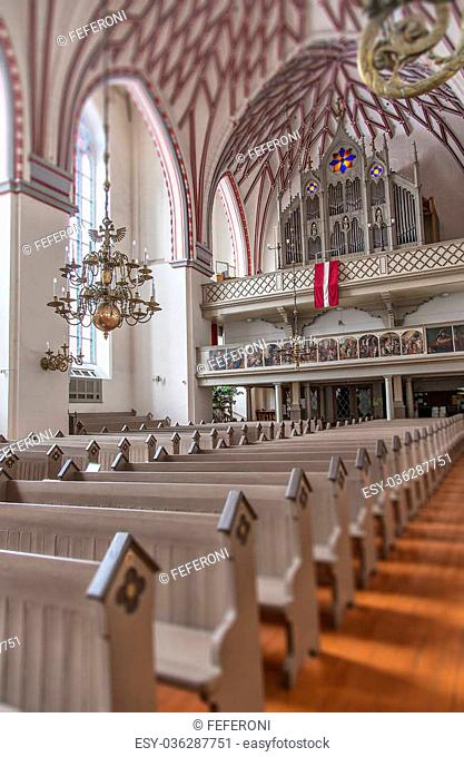 inside view of the church of St Johns in Riga, Latvia