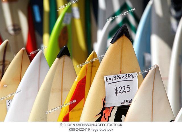 Second-hand surfboard shop. Angelsea, Victoria, Australia