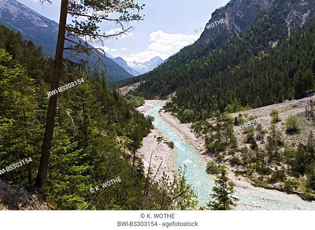 Isar river in Hinterautal, Austria, Tyrol, Karwendel Mountains