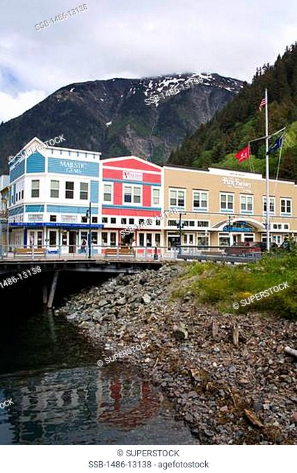 Stores at the waterfront, Peoples Wharf, Juneau, Alaska, USA