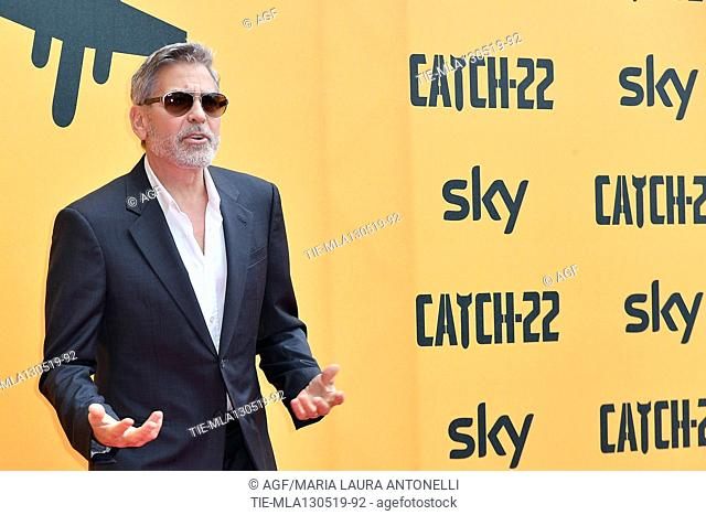 George Clooney during 'Catch-22' TV show photocall, Rome, Italy - 13 May 2019