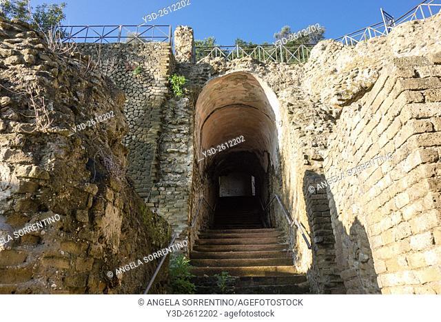 Archeological Ruins of Baia thermal baths, Naples, Italy