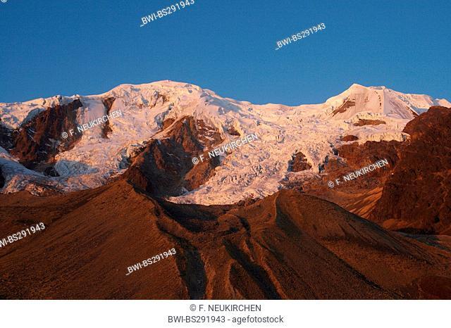Illimani in evening light, Bolivia, Andes, Cordillera Real