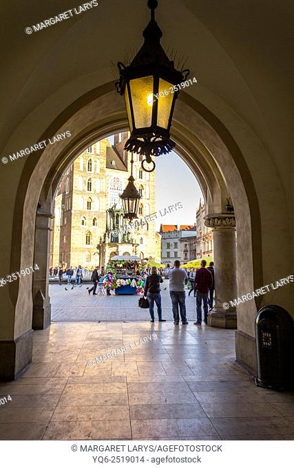 The Cloth Hall at Main Market Square, Cracow Krakow, Poland, Europe