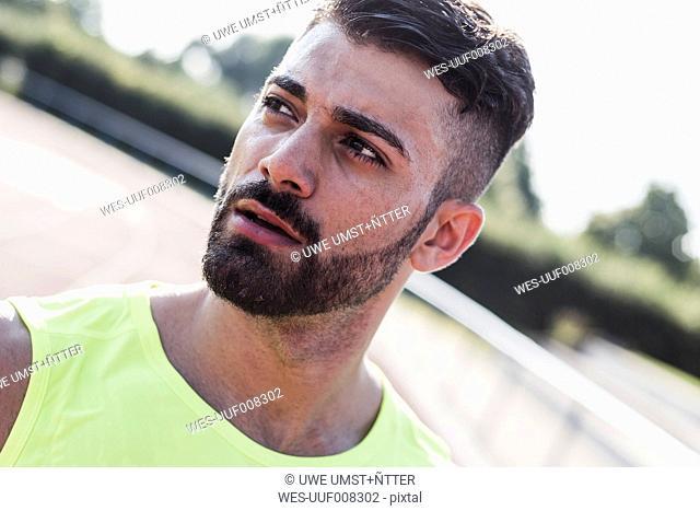 Portrait of confident athlete